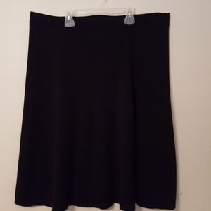 Dressbarn Womens Black Paneled Skirt New 18/20